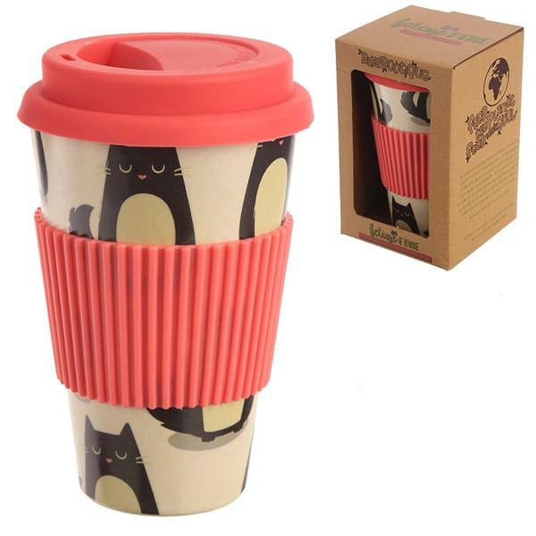 Eco Friendly kitty cat Travel Mug
